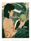 Breadfruit Hawaii - Bookplate from Etchings and Drawings of Hawaiians Stampe di John Melville Kelly
