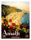 Amalfi Italia - Campania, Italy ジクレープリント : マリオ・ボルゴニ