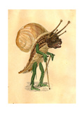 Snail 1873 'Missing Links' Parade Costume Design Giclée-tryk af Charles Briton
