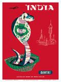 India - Qantas Airways - Indian Cobra (Naja Naja) Posters by Harry Rogers