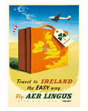 Travel to Ireland the Easy Way - Fly Aer Lingus ジクレープリント