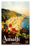 Amalfi Italia - Campania, Italy ポスター : マリオ・ボルゴニ
