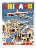 Chicago - Braniff International Airways Affischer