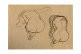 Two Studies of Seated Nude Impressão giclée por Gustav Klimt