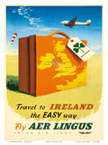 Travel to Ireland the Easy Way - Fly Aer Lingus Print