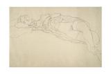 Reclining Nude 2 Giclée-Druck von Gustav Klimt