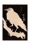 Crow in the Snow Reproduction procédé giclée par Kyosai Kawanabe