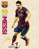 Barcelona - Messi Vintage 13/14 Posters