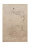 Kneeling Man and Seated Woman Embracing Giclée-Druck von Gustav Klimt