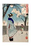 Moon of the Pleasure Quarters, One Hundred Aspects of the Moon Giclée-tryk af Yoshitoshi Tsukioka