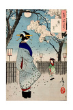 Moon of the Pleasure Quarters, One Hundred Aspects of the Moon Giclée-Druck von Yoshitoshi Tsukioka
