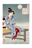 Cooling Off at Shijo, One Hundred Aspects of the Moon Giclée-tryk af Yoshitoshi Tsukioka