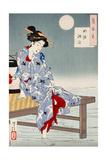 Cooling Off at Shijo, One Hundred Aspects of the Moon Lámina giclée por Yoshitoshi Tsukioka