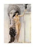 Allegory of Sculpture Impressão giclée por Gustav Klimt