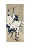 Seven Cranes Giclée-tryk af Jakuchu Ito