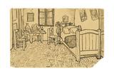 Van Goghs Schlafzimmer in Arles Giclée-Druck von Vincent van Gogh