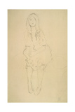 Seated Girl Seen from the Front Impressão giclée por Gustav Klimt