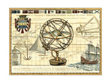 Nautical Map I Premium gicléedruk van Deborah Bookman