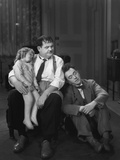 Oliver Hardy, Stan Laurel, Jacquie Lyn, Pack Up Your Troubles, 1932 写真プリント