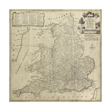 Road Map of England and Wales Affischer