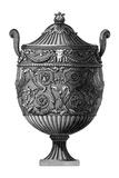 Black and White Urn III Art