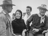 John Wayne, Richard Widmark, Laurence Harvey, Linda Cristal, The Alamo, 1960 Impressão fotográfica