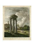 Temple of Jupiter Lámina por  Merigot
