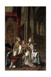 La Consagración De San Ambrosio Como Arzobispo, Ca. 1673 Giclée-Druck von Juan de Valdes Leal