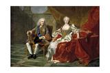Philip V and Elisabeth Farnese, Ca. 1743 Giclee Print by Louis-Michel van Loo
