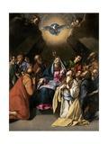 Pentecost, 1615-1620 Gicléedruk van Juan Bautista Mayno