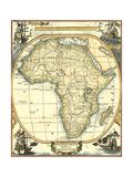 Nautische Karte von Afrika Giclée-Premiumdruck von  Vision Studio