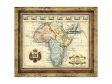 Karte von Afrika Giclée-Premiumdruck von  Vision Studio