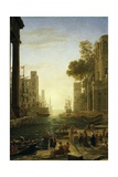 Landscape with the Embarkment of Saint Paula Romana in Ostia, 1639-1640 Giclee Print by Claude Lorraine