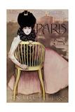 Cartel De Los Cigarrillos Paris Son Los Mejores, 1901 Reproduction procédé giclée par Ramon Casas