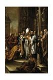 San Ambrosio Absolviendo Al Emperador Teodosio, Ca. 1673 Giclée-Druck von Juan de Valdes Leal