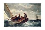 Breezing Up (A Fair Wind), 1876 ジクレープリント : ウィンスロー・ホーマー