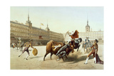 Corrida De Toros En La Plaza Mayor De Madrid Lámina giclée por  Blanchard