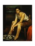 La Chiquita Piconera, 1930 Giclee-trykk av Julio Romero de Torres