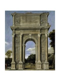 Triumphal Arch, 1607-1615 Lámina giclée por  Domenichino