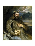 Saint Francis of Assisi in Ecstasy, 1627-1632 Giclée-Druck von Sir Anthony Van Dyck