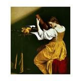 Lute Player, C. 1626 Lámina giclée por Orazio Gentileschi