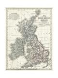 Mitchell's Map of Great Britain and Ireland Affischer