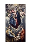 Virgin Mary and Child with St. Agnes and St. Martina, 1597-159 Giclée-tryk af  El Greco