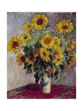 Still Life with Sunflowers, 1880 Giclée-tryk af Claude Monet