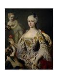 Maria Antonia Ferdinanda of Spain, Ca. 1750 Giclée-tryk af Jacopo Amigoni