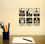 After School Reminder Wall Decal