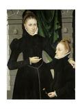 Dama Y Niña, 1567 Giclée-tryk af Adraien Van Cronenburch