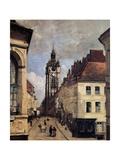 The Belfry of Douai, 1871 Reproduction procédé giclée par Jean-Baptiste-Camille Corot