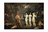 The Judgement of Paris, 1620-1630 Giclée-tryk af Francesco Albani