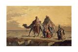 Desert Scene, C. 1863 Giclée-tryk af Francisco Lameyer